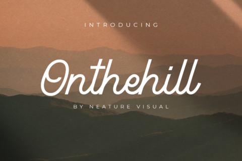 Onthehill Monoline Font