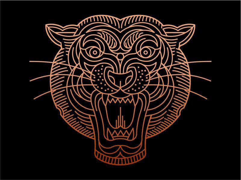 Geo Tiger Vector Illustration